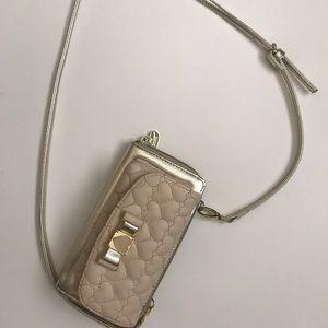 Betsy Johnson Wallet/Clutch Nude Crossbody Bag
